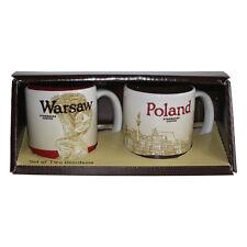 Starbucks Mug Warsaw Waschau Set of tow Demitasse Coffee Polen Kaffee Espresso