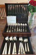 MINT Reed Barton CLASSIC BRAID 82 Pc Flatware Silverware Set for 12 Stainless