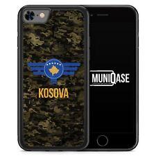 iPhone 8 Hülle SILIKON - Kosova Kosovo Camouflage mit Schriftzug - Motiv Design