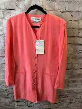 NWT Vintage DVF Sample Button Front Cardigan Blazer Salmon Rose Pink Size 8