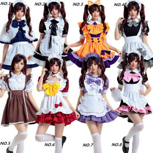 Lolita Cute Inu X Boku SS Lovely Princess Maid Dress Lockable Kawaii Uniform AA
