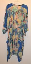 BCBGMAXAZRIA Jaelyn Asymmetrical Printed Kaftan Dress Large