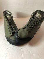 Rag & Bone Men's Standard Issue High Top Green BlackCanvas Sneaker Sz 10.5 /43.5
