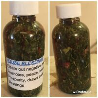 House/Home Blessings Oil Peace Abundane Good Luck Protection Hoodoo Pagan