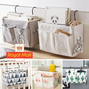 Bedside Storage Bags Hanging Bag Organiser Hook Holder Cabin Shelf Bunks Pocket