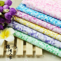 1m Sheer Print Floral Mesh Fabric Wedding Upholstery Cloth Crafts Material Soft