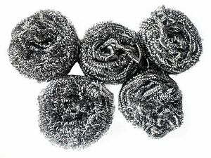 """Dishwashing Metal Scouring Pads Scrubs Remove Grease Oil from Plates Cups 3"""""""