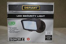DEFIANT LED Outdoor Security Flood Light, Switch Controlled  2100 Lumens NEW