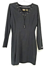 HARLEY DAVIDSON WOMENS SMALL BLACK FITTED DRESS - GORGEOUS! EUC