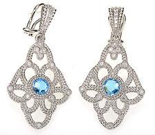Judith Ripka Topaz gemstone Sterling Silver Dangle Earrings