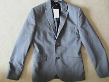 MENS H&M BLUE LONG SLEEVE SLIM FIT 2  BUTTONS GREAT FIT BLAZER SIZE 36R / 46 EUR