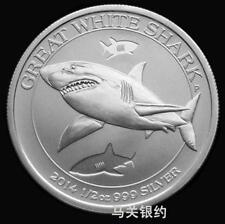 Australia 2014 Shark Silver .999 1/2 oz Coin (UNC)