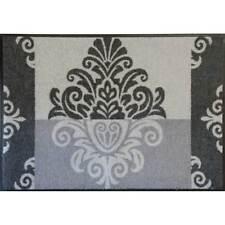 Waschbare Fußmatte Leander Ornament grau 50 x 75cm Fußabstreifer Türmatte