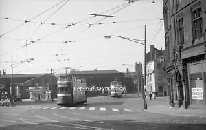 35mm negative Leeds Corporation Tram 535, 154, Leeds 02-06-57