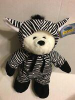 "Good Stuff Bear In A Zebra Suit NEW 15"" Plush Stuffed Animal"