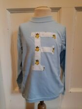 Age 3-4 blue long sleeve T-shirt Letter F bees - 100% cotton - gift BRAND NEW