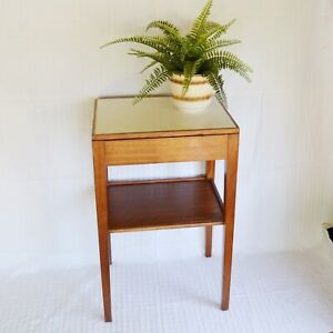 Vintage Remploy Side Bedside Table Drawer Formica Military Arrow Mid Century