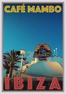 Art Deco Travel Posters Lovely Vintage Retro Holiday Tourism Ibiza Cafe Mambo