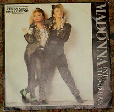 "MADONNA INTO THE GROOVE 7"" VINYL 1985 MADE IN ITALY RARE RARO 45 giri/rpm"