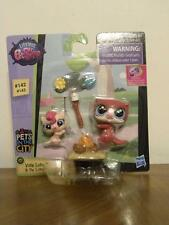 Littlest Pet Shop Pets In The City #142 Vista & #143 Pip Lutro Otter