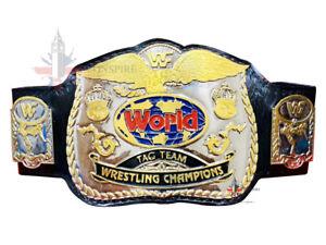 WWF World Tag Team Wrestling Heavyweight Championship Title belt 4mm Zinc Plates