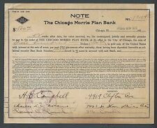 1926 Chicago Morris Plan Bank Contract Based On Customers Personality See Info