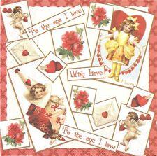 Paquet de 20 Serviettes en papier Ambiente Amour Paper Napkins Sweet Love