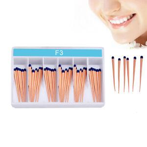 60Pc Dental Taper Root Gutta Obturating Percha Points F3 For Obturation System