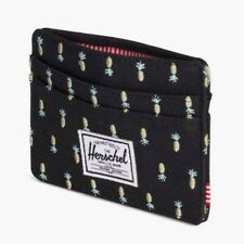 Herschel Supply Charlie RFID Wallet Black Pineapple - Very Rare Retired Pattern