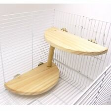 Niteangel 2-level Wooden Platform for Chinchilla, Hamster and Other Small