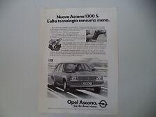 advertising Pubblicità 1980 OPEL ASCONA 1300 S
