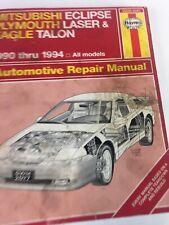 90 Thru 94 MitsuBishi Eclipse Eagle Talon Laser 68030 2097 Haynes Repair Manual