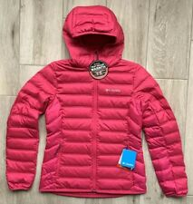 NWT! Women's Columbia Lake 22 Pink Hooded Down Heat Seal Jacket Size Small $140