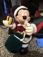 Christmas Disney Mickey Mouse 1998 Santa's Best Holiday Animation Ornament