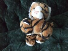 """10"""" tall Orange tiger With baby tiger 1993 Small of the wild"""