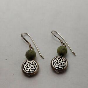 celtic knot connemara marble earrings