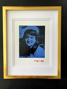 ANDY WARHOL + 1984 SIGNED JACKIE KENNEDY PRINT MATTED 11X14 + BUY IT NOW