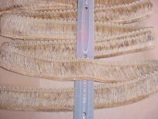 "7-5/8Y BOMAR METALLIC GOLD / TAN 2""  BRUSH FRINGE DRAPERY UPHOLSTERY TRIM"