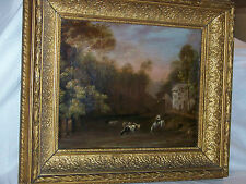 Dutch Old Master Original Oil On Canvas Pre-1800's w/Gold Gilded Wood Frame
