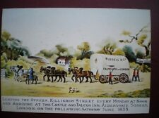 POSTCARD RP ROYAL MAIL 1833 MAIL COACH LEAVING KILLIGREW ST EVERY MONDAY ARRIVIN