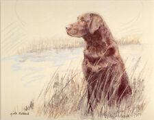 LABRADOR RETRIEVER CHOCOLATE DOG LIMITED EDITION PRINT  - Artist Proof # 23/85