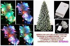RETE 120 LED MULTICOLORE Cm.200x200 CAVO BIANCO con CONTROLLER da INTERNO NATALE