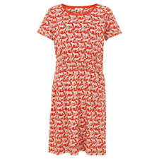 Fat Face Corinne Jungle Cat Dress Orange Size UK 12 Dh087 RR 17