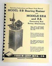 Tobin Arp Model SB, SBA, & RA Manual