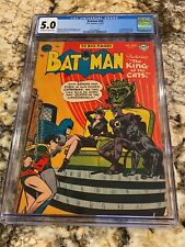 BATMAN #69 CGC 5.0 OW-WH PGS 1ST APP KING OF CATS CATWOMAN COVER NEW MOVIE SOON!