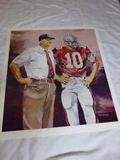 Ohio State Buckeyes Limited Edition Print Woody Hayes Rex Kern by Jeff Joseph