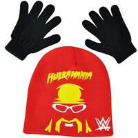 WWE Hulkamania Hulk Hogan Beanie Knit Glove Set Wrestler Wrestling Entertainment