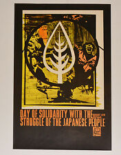 1968 Cuban Political Poster.Cold War art.OSPAAAL Solidarity with Japan.English