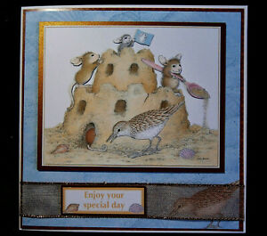 Decoupage `House Mouse` card to say `Enjoy your Special Day`