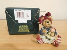 New ListingBoyds Bears & Friends - Belle with Dolly. Bow Perfect - Ornament # 25751